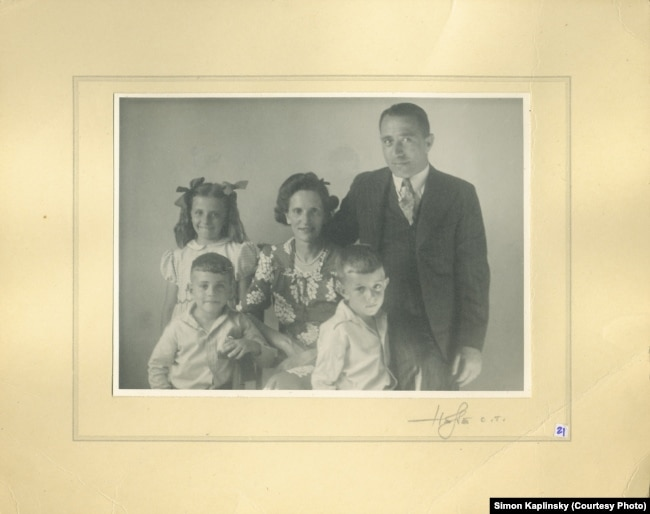 Сям'я Каплінскіх у Паўднёвай Афрыцы ў пачатку 1940-х гадоў