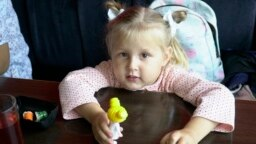 Tatarstan -- Amira Akhmetova, 3 y.o., has a rare disease, Apas, undated
