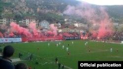 Од натпреварот меѓу Шкендија и Тетекс. Ниту спортски натпревар меѓу двете најголеми етнички групи не поминува без инциденти.