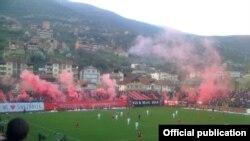 """Incident në një ndeshje futbolli të ekipit """"Shkëndija"""", në Maqedoni."""