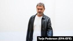 Подозреваемый в шпионаже Михаил Бочкарев в ожидании судебного заседания в Осло. 4 октября 2018 года