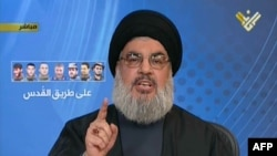 Sheikh Hassan Nasrallah, udhëheqës i Hezbollahut.