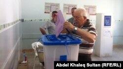 في مركز لاقتراع المهجرين - دهوك