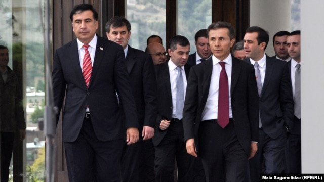 The uneasy cohabitation of Georgia's President Mikheil Saakashvili (left) and Prime Minister Bidzina Ivanishvili (right) continues.
