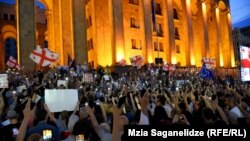 Georgians Take To The Streets For Fourth Night