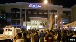 На месте нападения на туристов в Хургаде (8 января 2016 года)
