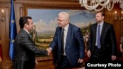 Премиерот Зоран Заев се сретна со претседателот на Комитетот за заштита од тортура на Советот на Европа Микола Гњатовскиј