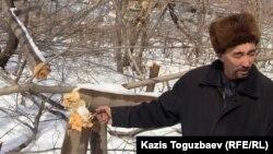 """Сайлау Лепесов, """"Табиғат"""" қозғалысының белсендісі. Тастыбұлақ, Алматы облысы, 11 наурыз 2013 жыл"""