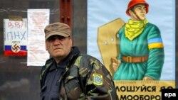 Ветеран Революции достоинства на площади Независимости в Киеве, 18 марта 2014 год