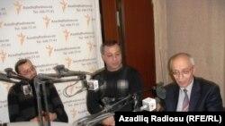 (sağdan sola) Rafiq Tağı, Əsəd Cahangir, Zərdüşt Şəfizadə