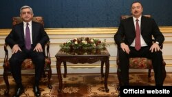ArmenianSerzh Sarkisian (left) and his Azerbaijani counterpart Ilham Aliyev meet in Vienna for a fresh round of talks over Nagorno Karabakh on November 19.