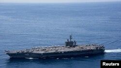 Эсминец ВМС США «Карл Винсон» в Индийском океане, 15 апреля 2017 года.