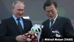 Vladimir Putin və Moon Jae-in