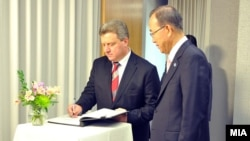 Средба на претседателот Ѓорге Иванов со Генералниот секретар на ОН Бан Ки-мун Њујорк, САД.26 септември 2012.