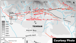 Map of fault lines around Tehran - Journal of Geophysical Research Atmospheres