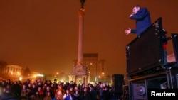 Klitschko Kiyevdəki aksiyada çıxış edir, 22 noyabr 2013