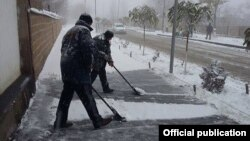 Ձյան մաքրման աշխատանքներ Երևանում