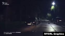 Автівки Грановського біля маєтку Порошенка