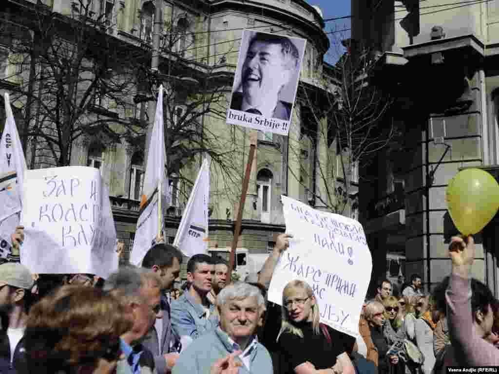 Protest prosvetara i još nekoliko sindikata u Beogradu, 25. mart 2011, fotografije: Vesna Anđić