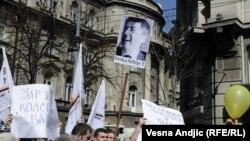последните протести во Белград се одржаа на 25 март во организација на синдикалните здруженија