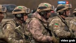 """Тренировки чеченского спецназа, видео """"Россия 1"""", скриншот"""