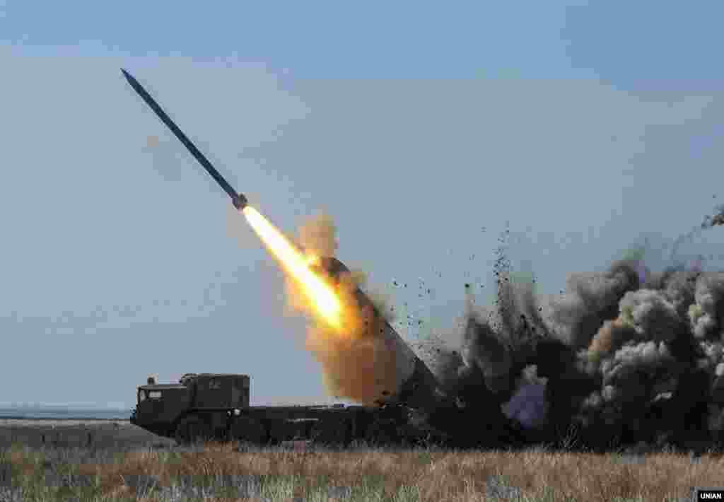 Випробування ракет українського виробництва, в Одеській області, 21 березня 2017 року