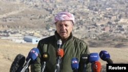 Iraqi Kurdish regional President Masud Barzani is calling for a nonbinding referendum on Kurdish independence.