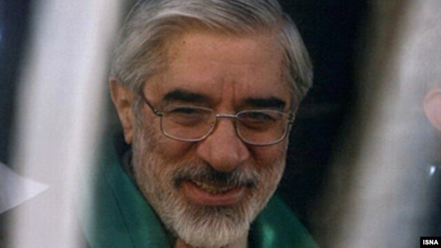 Mir Hossein Musavi, who was put under house arrest in 2011, during the 2009 presidential campaign.