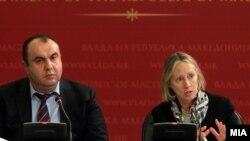 Директорката на Светската банка за ЈИЕ Џејн Армитаџ и вицепремирот за економски прашања Владимир Пешевски