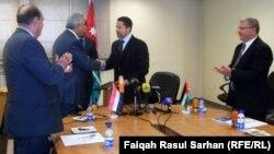 مراسم توقيع مذكرة تفاهم بين العراق والاردن