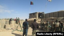 FILE: An Afghan National Army base in Uruzgan.