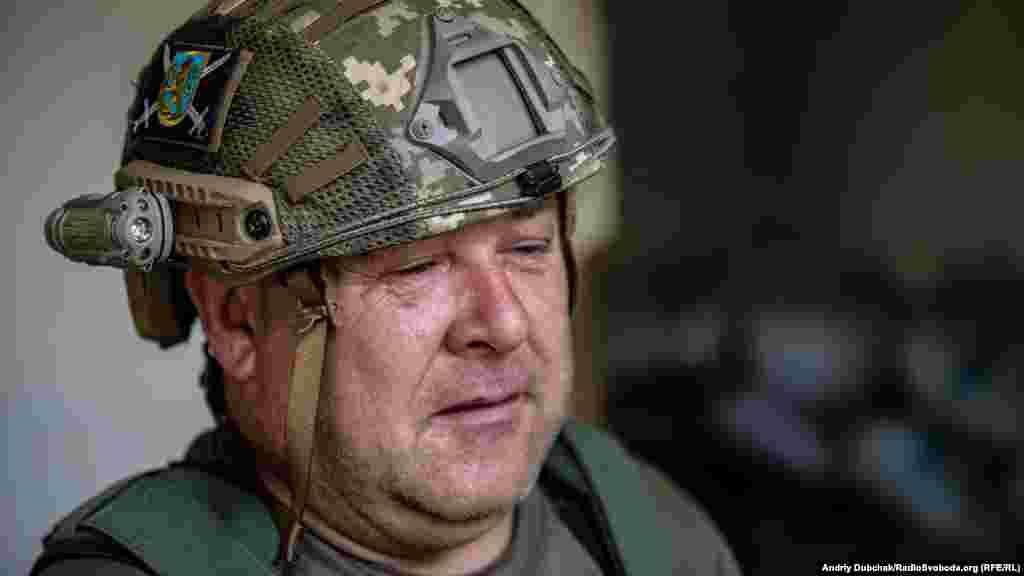 «Борисович» Он несет службу на передовых позициях украинской армии в поселке Южное под Горловкой