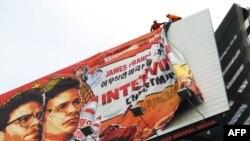 """Снимают рекламный плакат фильма """"Интервью"""""""