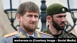 Магомед Даудов (справа) и глава Чечни Рамзан Кадыров