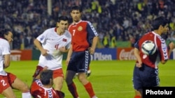 Pamje nga ndeshja Turqi-Armeni, 14 tetor 2009.