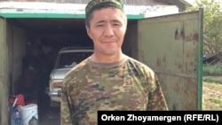 Ескендір Самарханұлы, Степной ауылының тұрғыны. Ақмола облысы, Шортанды ауданы, 30 шілде 2013 жыл.