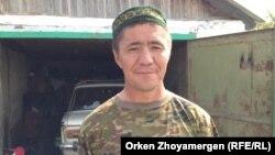 Житель села Степное Ескендир Самарханулы.