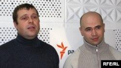 Алесь Таўстыка і Руслан Луцэнка