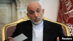 President Hamid Karzai offered the possibility of talks with militants who are not part of any terrorist group.