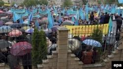 Ղրիմի թաթարների հավաքը Սիմֆերոպոլում, 18-ը մայիսի, 2014թ․
