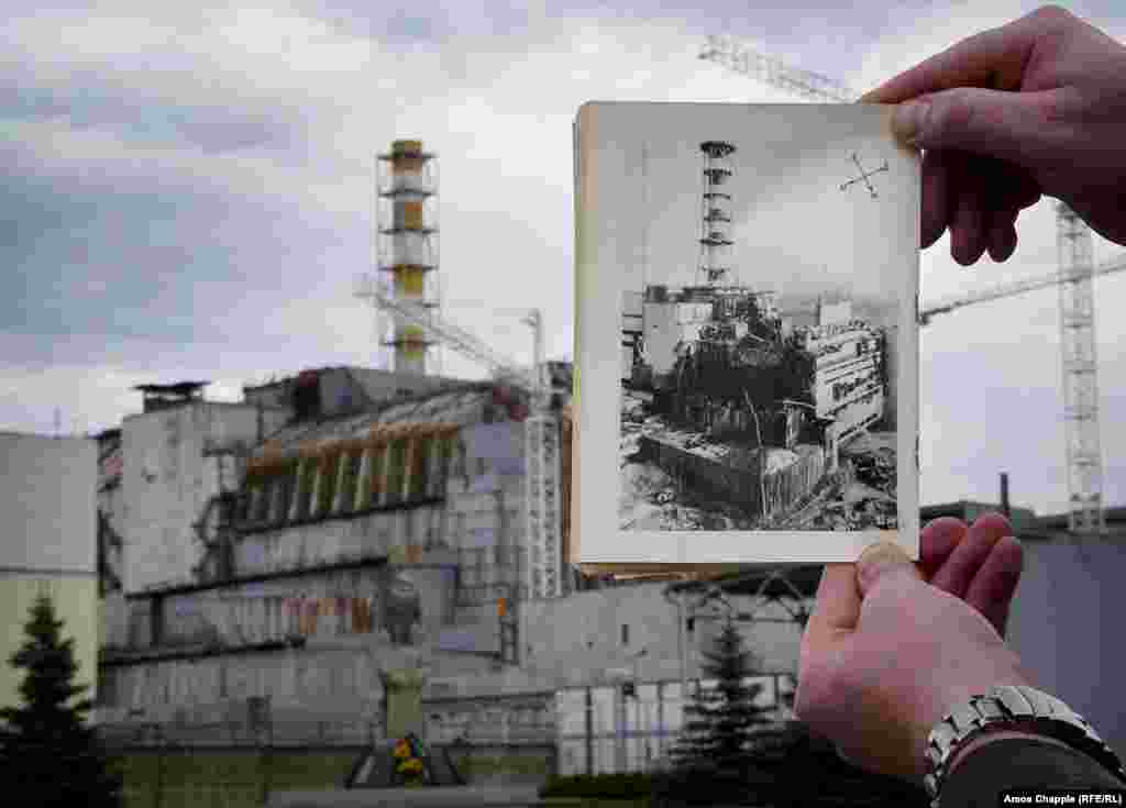 A view of the nuclear power plant at Chernobyl, 30 years after the explosion that shook the world