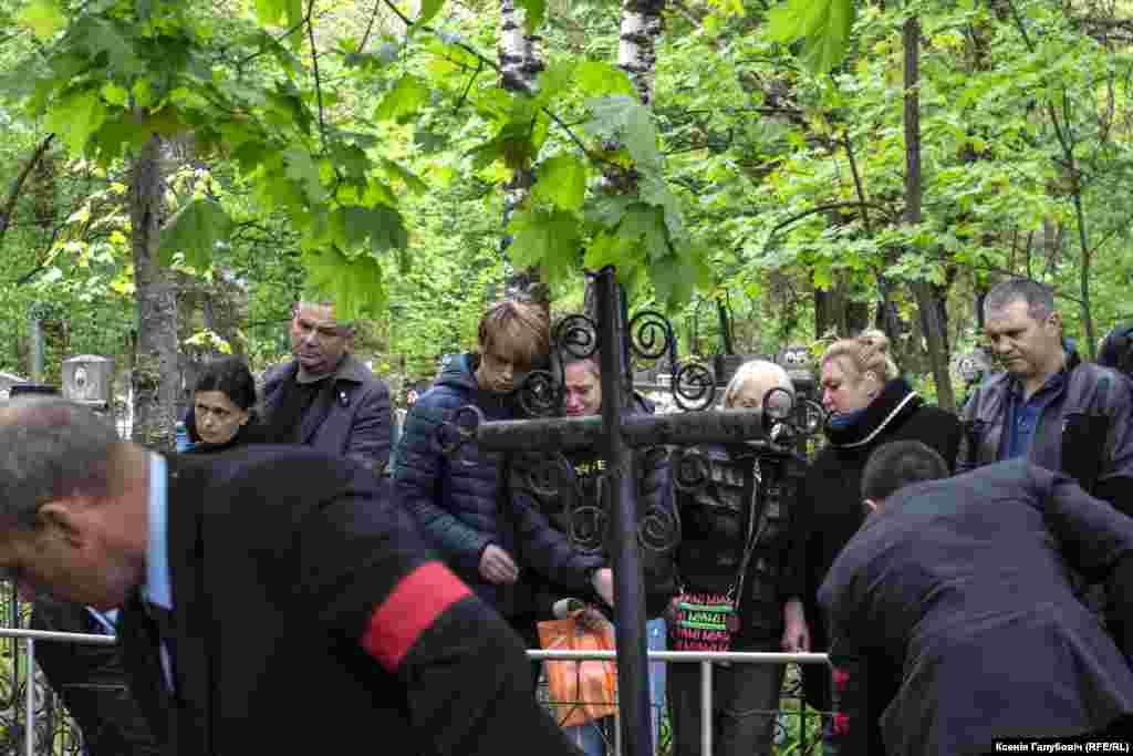 Belarus - film director Uladzimir Mikhajlouski funeral