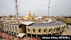 Pamje e qytetit të shenjtë shiit në Qerbela të Irakut