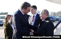 Александр Вучич і Володимир Путін
