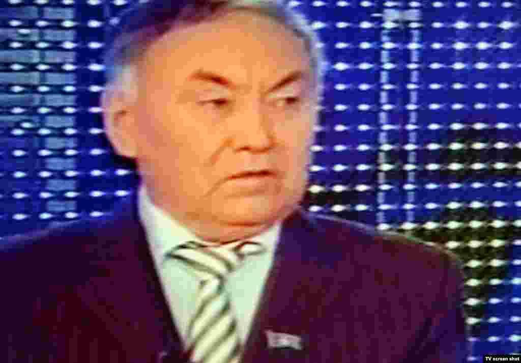 """Лидер пропрезидентской партии """"Ауыл"""" Гани Калиев."""