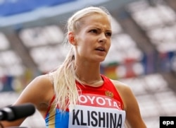 Russian long jumper Darya Klishina (file photo)