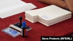 Glasački listići na izborima u Crnoj Gori