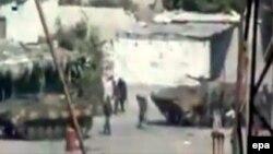 Скриншот видео о передвижении танков и военных в сирийской провинции Латакия. Иллюстративное фото.