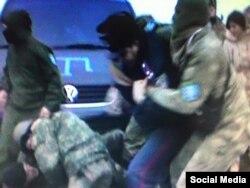Нападение на полковника полиции Украины во время драки у поврежденных опор ЛЭП. 21 ноября