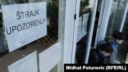 Štrajk upozorenja u jednoj od škola u Sarajevu, 5. mart 2012.